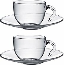 Argon Tableware Klare Glas Espresso-Tasse mit