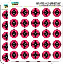 Argyle Hipster Pink 2,5cm (2,5cm) Scrapbooking, Aufkleber