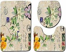 Ari_Mao Satz von 3 Badezimmer Mat Set Vintage