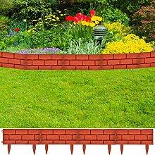 Arichtop 11 x Palisade Gartenzaun Beeteinfassung