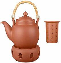 Aricola Ton Teekanne Tenno 1,1 Liter mit Tonsieb,