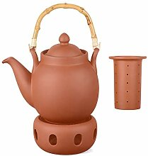 Aricola Ton Teekanne Tenno 1,6 Liter mit Tonsieb,