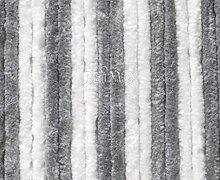 Arisol Flauschvorhang 120x185cm, Grau/Weiß für