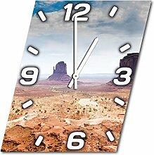 Arizona, Design Wanduhr aus Alu Dibond zum Aufhängen, 30 cm Durchmesser, schmale Zeiger, schöne und moderne Wand Dekoration, mit qualitativem Quartz Uhrwerk