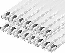 ARLI Kabelkanal schraubbar 15x10mm PVC 30m Installationskanal Wand und Decken Montage allzweck für aller Art von Kabel Haus Büro TV Lautsprecher Telefon Sat Internet Lan