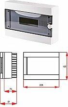 ARLI Verteilerkasten AUFPUTZ IP40 Sicherungskasten (9 Module)