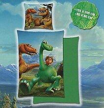Arlo & Spot / The Good Dinosaur - Microfaser Bettwäsche grün