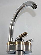 Armatur Kludi Küche Spüle Spültisch Einhandmischer + Geräteanschluss chrom gold abgesetz