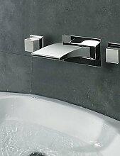 Armaturen f¨¹r Waschbecken - Zeitgen?ssisch - LED / Wasserfall Chrom)