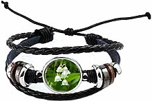 Armband aus Glas mit Lilien-Motiv PU328