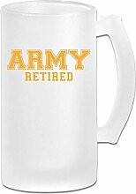 Armee im Ruhestand DIY Print Glas Bier Wasser