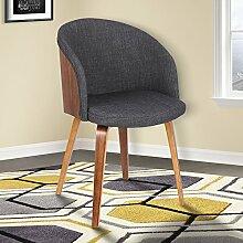 Armen Living Stuhl, Holz, Kohle, Esstisch Höhe