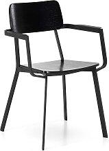 Armlehnen Esstisch Stühle in Schwarz Schichtholz