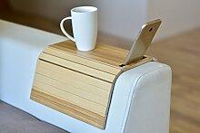 Armlehnenschoner aus Holz, Sofa-Ablage,