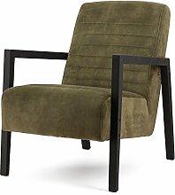 Armlehnsessel LARS Bezug Adore Samt Relaxsessel Fernsehsessel Lounge Sessel (grün)