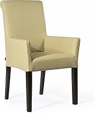 Armlehnstuhl Galdo Leder Mocca Light Beine Wenge | Ledersessel Lederstuhl Sessel