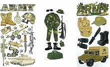 Army Aufkleber für Scrapbooking | Militär Soldat