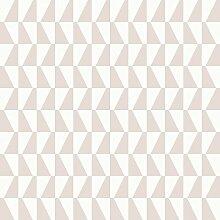 Arne Jacobsen 1780 Vliestapete graphisches Trapezmotiv rosé und mattweiß