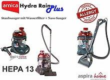 Arnica Hydra Rain PLUS - STAUBSAUGER MIT WASSERFILTER UND Waschsauger, Naßsauger, Extrahiergerät, Polsterreiniger - Teppichreiniger in einem HEPA - Ähnlich wie AQUA LASER Bora