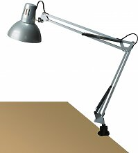 Arno Schreibtischlampe klemmbar silber