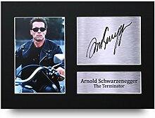 Arnold Schwarzenegger Signiert A4bedruckt Autogramm, The Terminator Drucken Foto Bild Display–tolle Geschenkidee