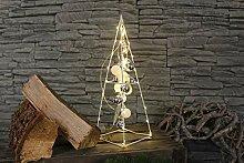 Arnusa LED Weihnachts Pyramide mit Kugeln,