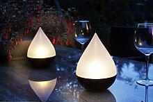 Arnusa Solarleuchte Solarlampe Tropfen 3er Set LED