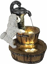 Arnusa Springbrunnen Hund miit LED Beleuchtung
