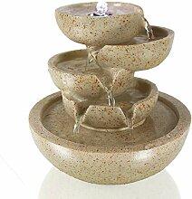 Arnusa Zimmerbrunnen Conchas mit LED-Beleuchtung