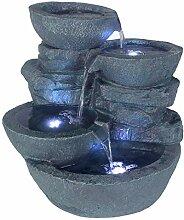 Arnusa Zimmerbrunnen mit LED Beleuchtung Innen und