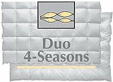 Aro Artländer Bettdecken Duo 4-Jahreszeiten Daunenbett - 135x200cm
