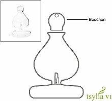 Aroflora 1144 Tsylia Korkenzieher für Zerstäuber, Glas, Grau