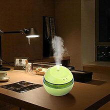 Aroma Diffuser, 300ml Aroma Luftbefeuchter Ätherisches Öl Diffusor LED Ultraschall Aroma Aromatherapie Luftbefeuchter Hautpflege (Grün)