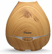 Aroma Diffuser 300ml Paxamo Holzmaserung Luftbefeuchter Ultraschall Humidifier mit 7 Farben LED Luftbefeuchter für Wohn-,Bade-,Schlaf-,Büro,Yoga,Babyzimmer (Light Wood)