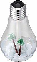 Aroma Diffuser Clode® Lampe Luftbefeuchter Heim Aroma LED Befeuchter Luft Diffuser Purifier Atomizer (Silber)