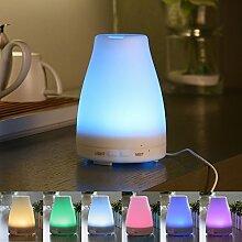 Aroma Diffuser, Generika Tragbare Ultraschall Aroma Diffusor Luftbefeuchter für Ätherische Öle mit LED Lampen (klein)