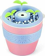 Aroma Diffuser Topf 200ML Luftbefeuchter Ultraschall Zerstäubung Aroma Diffusor können DIY Pflanzen Blumen und Gras kein Wasser Automatisch ausschalten Stumm , Pink