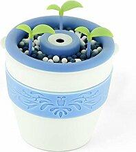 Aroma Diffuser Topf 200ML Luftbefeuchter Ultraschall Zerstäubung Aroma Diffusor können DIY Pflanzen Blumen und Gras kein Wasser Automatisch ausschalten Stumm , Weiß