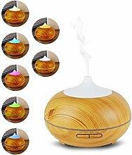 Aroma Essential Air Humidifier Oil Diffuser 300ml kühlen Nebel Luftbefeuchter mit 7 Ändern LED Mood Lights Timer-Einstellungen für Schlafzimmer, Yogo, Schönheitssalon