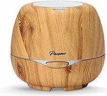 Aroma Essential Oil Diffuser 300ml, Paxamo Aromatherapie Ultraschall Humidifier mit 7 Farben LED Lichter Ätherischesöl Öl Düfte Diffusor Kalten Nebel Luftbefeuchter für Wohn-,Bade-,Schlaf-,Büro,Yoga (Light Wood)