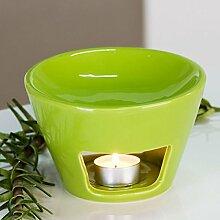 Aromabrenner Shape Keramik grün Duftlampe