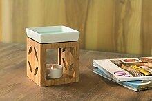 Aromalampe Duftlampe aus Bambus - Aroma Duft Lampe Stövchen Duftstövchen Keramik > Cube > Sonderposten jetzt günstig kaufen!