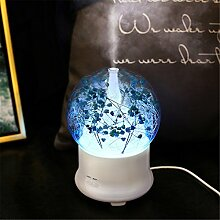 Aromatherapie Aromatherapie Maschine lampe Schlafzimmer Ultraschall Luftbefeuchter Spray, 12 × 12 × 16,8 cm, blau