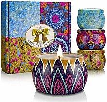 Aromatherapie Kerze, 4 Stück Natürliche