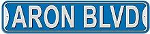 Aron Schild–Kunststoff Wand Tür Street Road Stecker Name, plastik, blau, Boulevard
