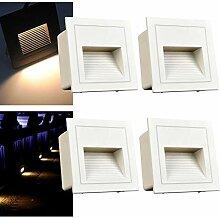 Arote 4er Set 3W LED Wandeinbauleuchte Wandleuchte