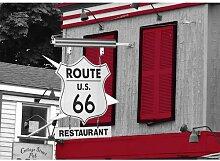 Around the World Route 66 Fotodruck in