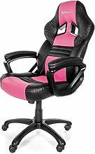 Arozzi Gaming Stuhl Monza Schwarz/Pink