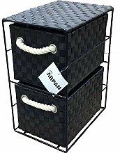ARPAN Aufbewahrungsschrank mit 2 Schubladen, ideal