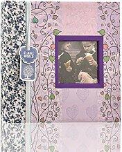 ARPAN Fotoalbum mit 200 Fotos, Blumenmuster, 8 x 8